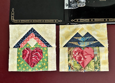 Hearts & Homes Series - Home Blocks 5 and 6 paperpieced (FPP) pattern by Scarlett Rose's Celtic & More.