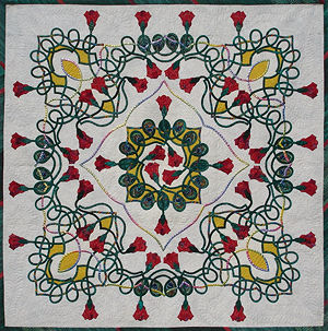 A Celtic Rose Garden applique quilt pattern