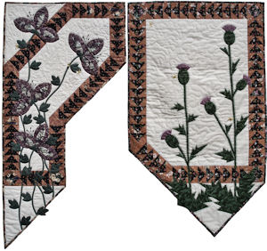 Weeds and Wild Geese I & II wallhangings