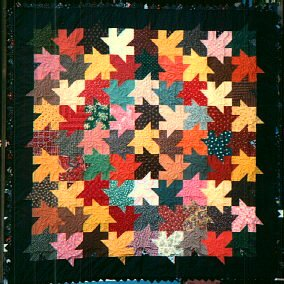 Autumn Leaves bed size quilt