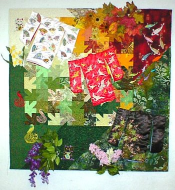 Symbols & Seasons of Japan art quilt