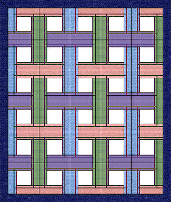 Multicolor layout of 30 blocks.