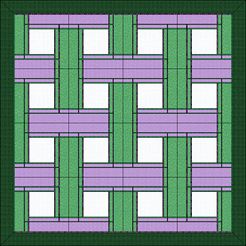 Two colors of bias and background for 16 block layout.