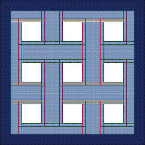 Nine block layout of Celtic Plaid Pillows