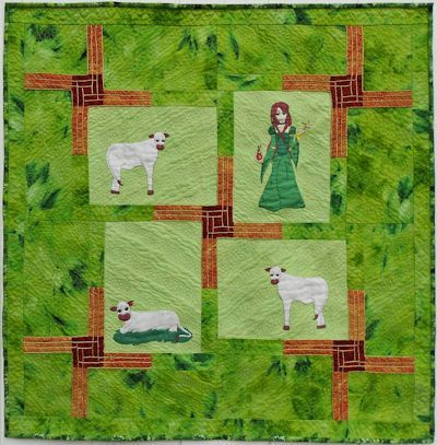 Brigid & Her Fairy Cows small quilt