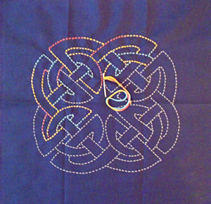 Celtic Knot 2 partially stitched