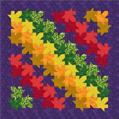 Modern Rail Fence quilt layout