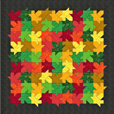 Rail fence setting for Autumn Splendor pattern.