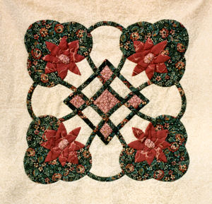 Color picture of quilt block.