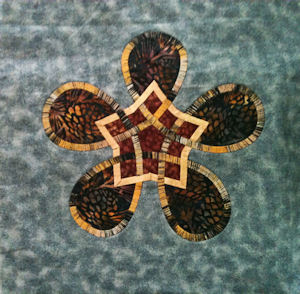 Cathy's Celtic Star block in batik