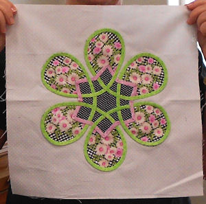 Six pointed Celtic star made by Red Bluff quilter.