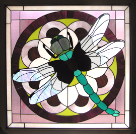 Bill Harris' stained glass dragonfly