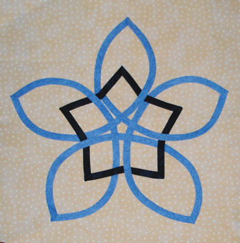 Blue Celtic Star block